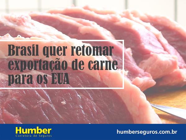 Exportação de carne para os EUA pode retornar, diz MAPA